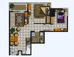 2 Br Floor Plan Layout Thamrin Residence