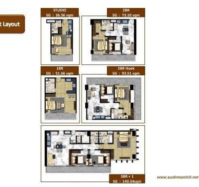 Floor Plan Layout Thamrin Residence